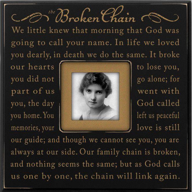 Broken Chain Wood Picture Frame | Memorial ideas | Pinterest | Wood ...