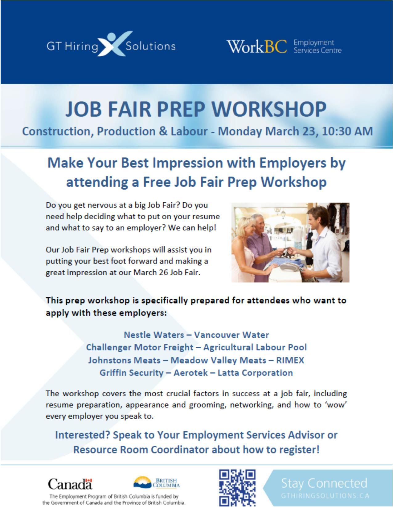 job fair prep workshop workbc news internet site website workbc news web site job fair prep workshop fair prep