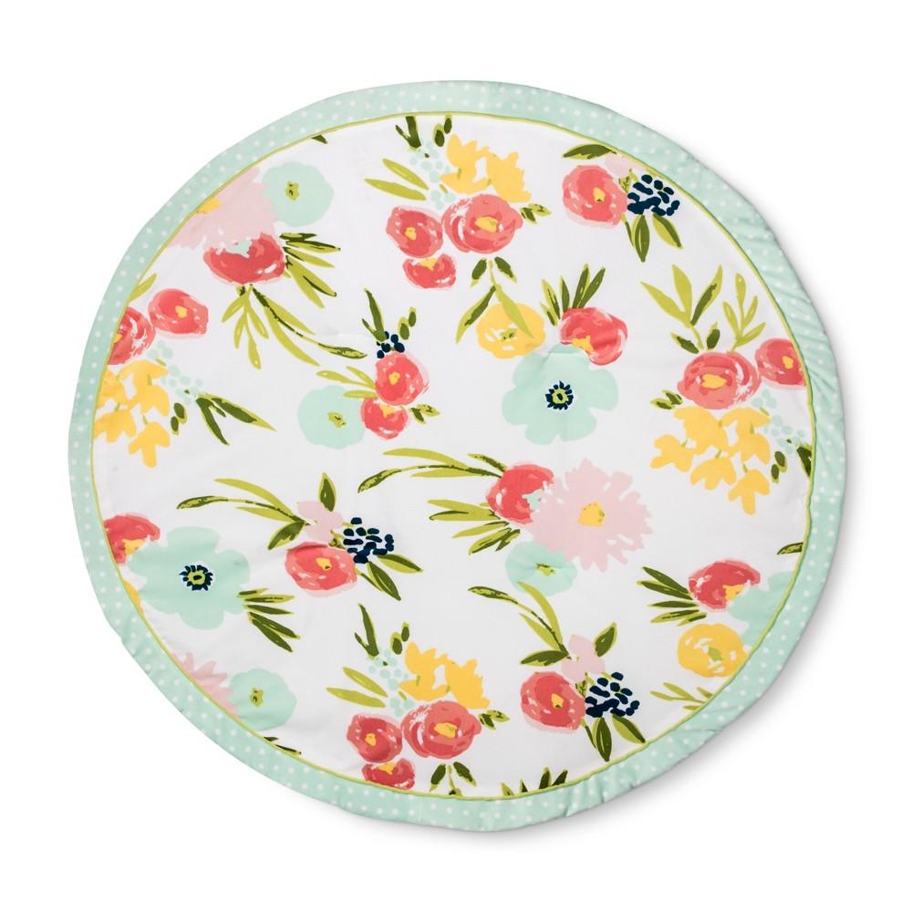 Round Activity Playmat Floral Cloud Island Pink/Light