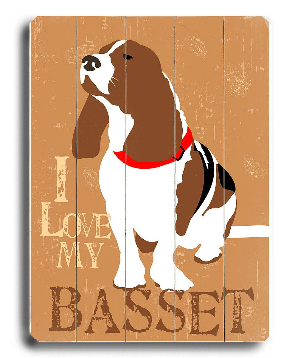 I Love My Basset Wall Plaque Personalized Wall Art Personalized Wall Sign Personalized Wall