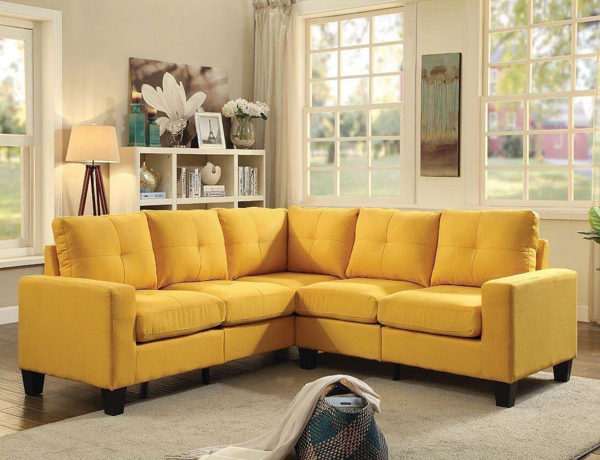 Newbury Sectional Yellow Living Room Design Modern Furniture Small Modern Living Room