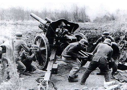Image result for ww2 german artillery guns in the ardennes
