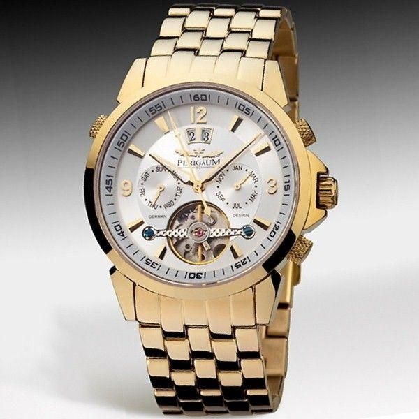 Men watches : Gold watches men Perigaum
