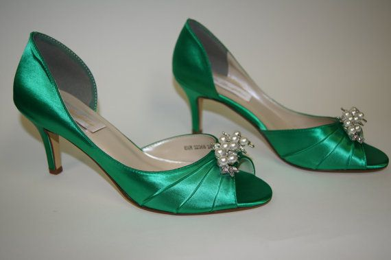acd0e1a849f13 Wedding Shoes Emerald Green Custom Shoes Bespoke by Parisxox | Shoes ...
