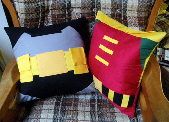Batman and Robin pillows