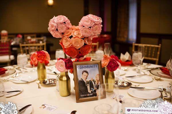 Disney Wedding Centerpieces With Mickey Topiaries Disney