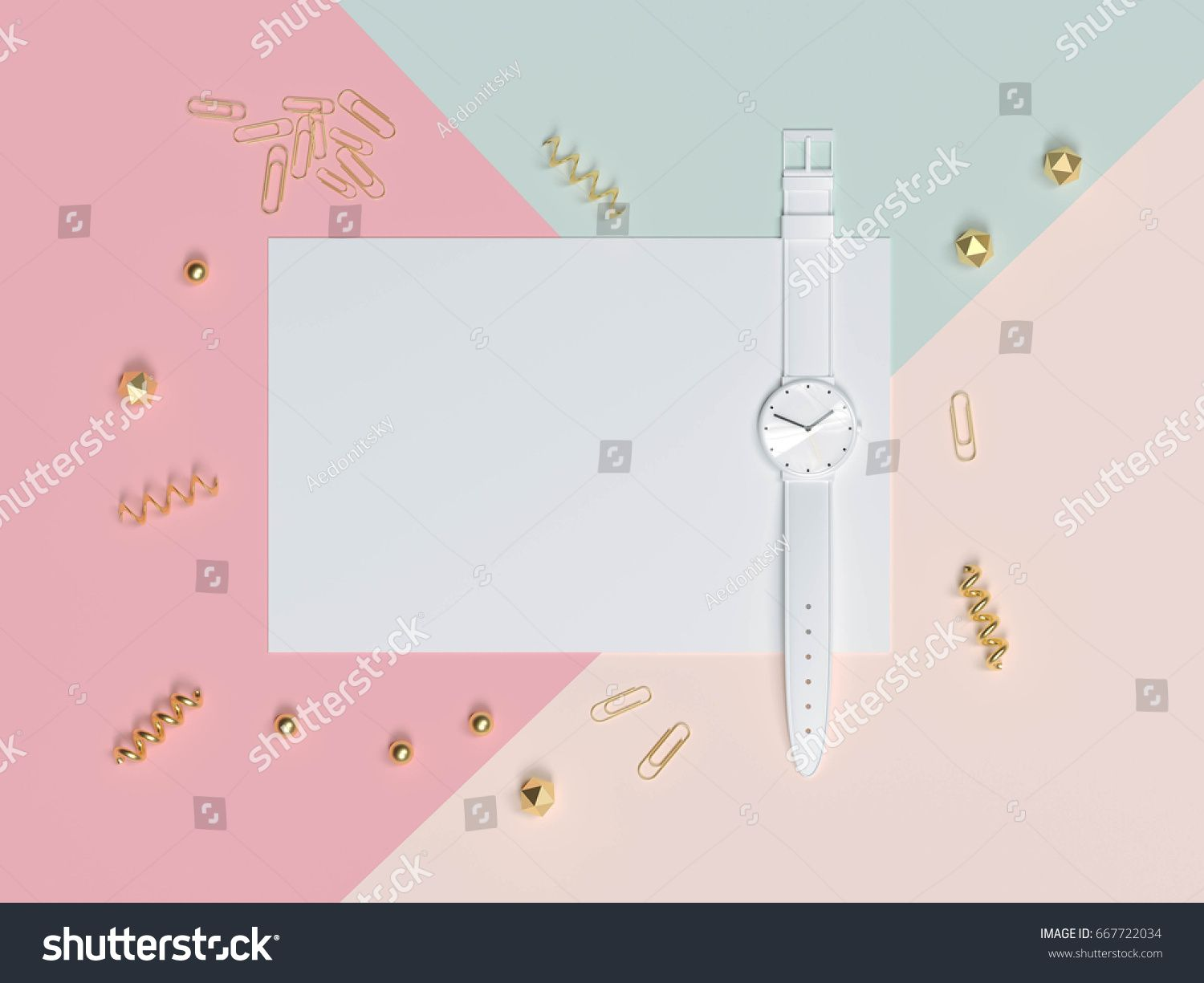 Empty Black Frame Mock Up With Decorative Elements On Pink Wall Background And White Table Surface