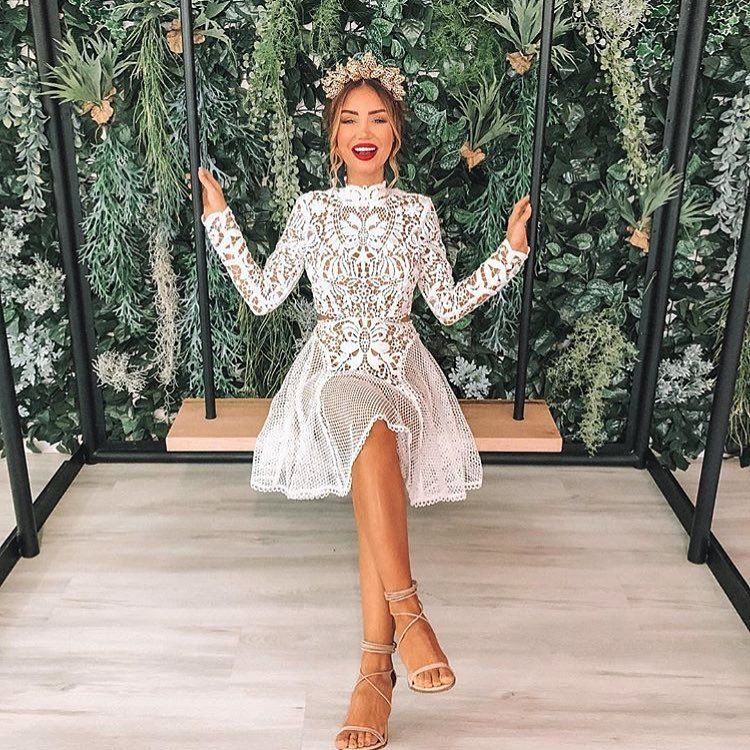"""Thurley ( thurleyofficial) på Instagram  """" piamuehlenbeck wears the   Enchanted Garden Mini Dress  to yesterday s Caulfield Cup. Available in…"""" 7456ea652"""