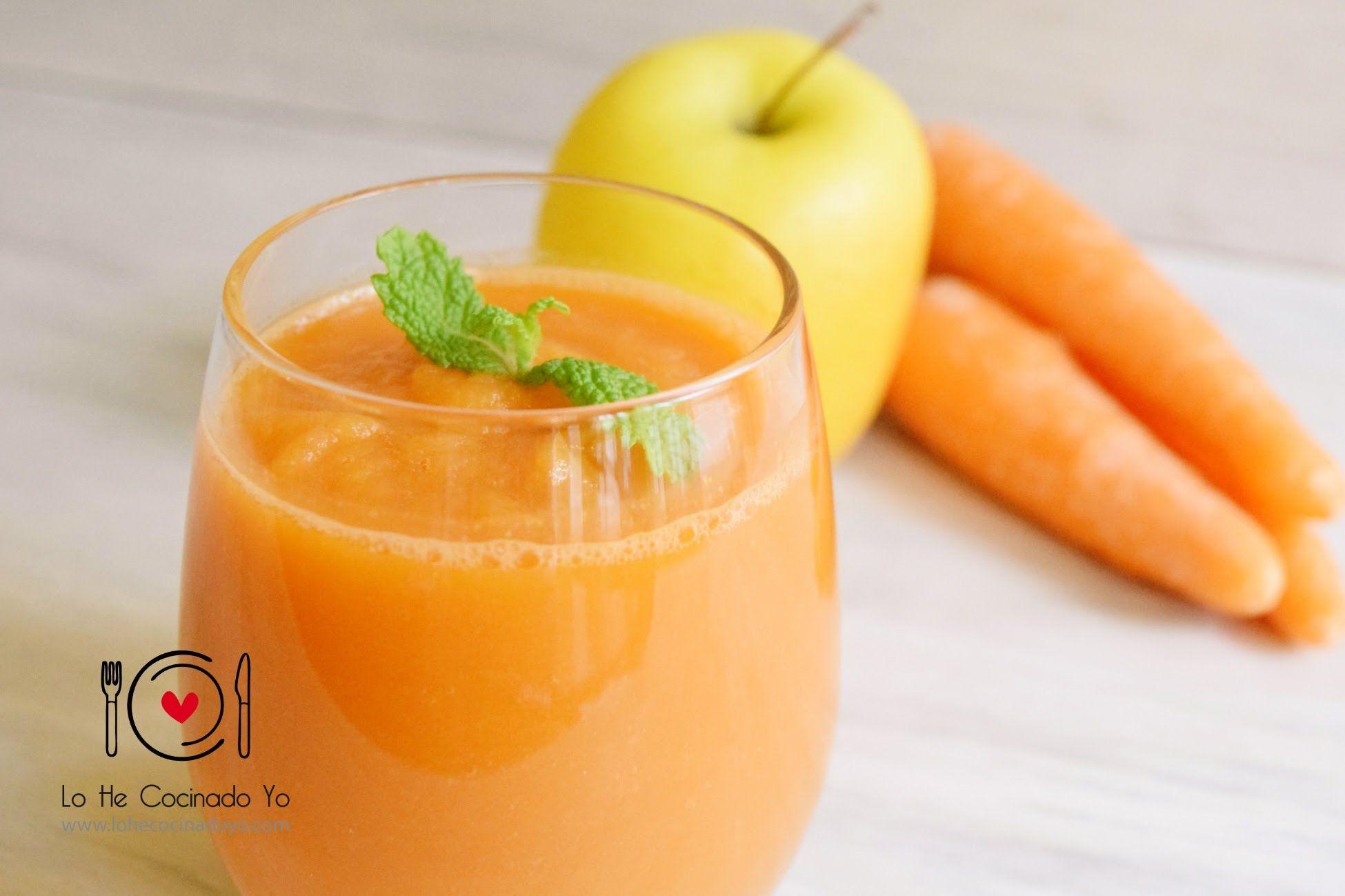 Batidos para adelgazar de zanahoria manzana
