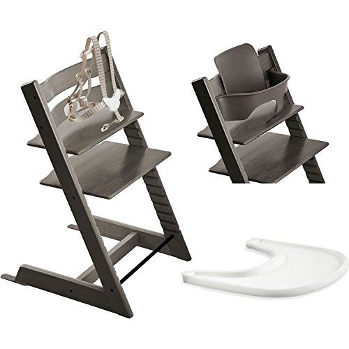 Stokke Tripp Trapp Chair With Baby Set Tray Hazy Grey Tripp Trapp Chair Stokke Tripp Trapp Baby Sets
