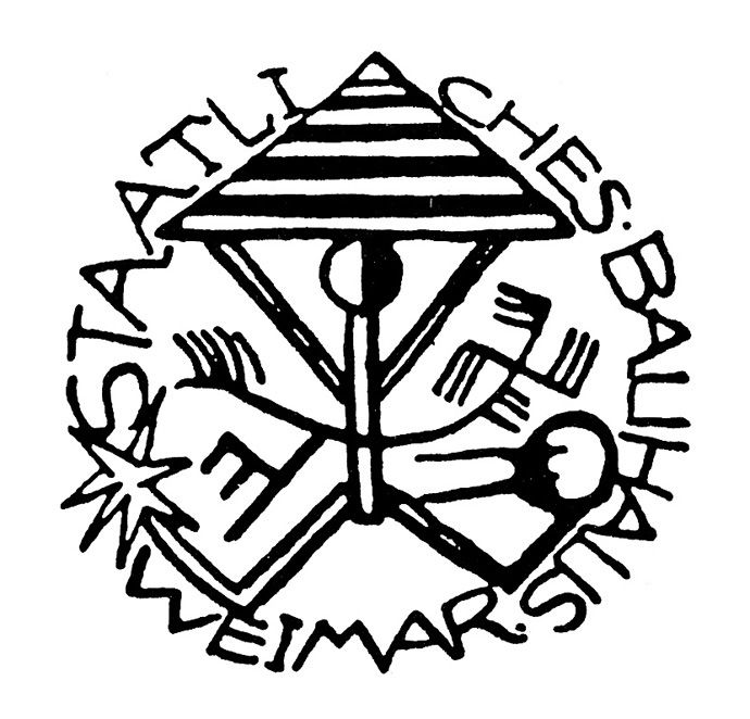 Karl Peter Röhl, Logo original de la Bauhaus de Weimar, 1919