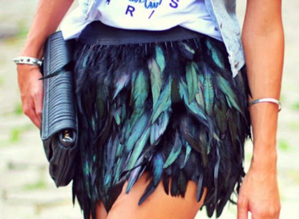 Feather skirt!