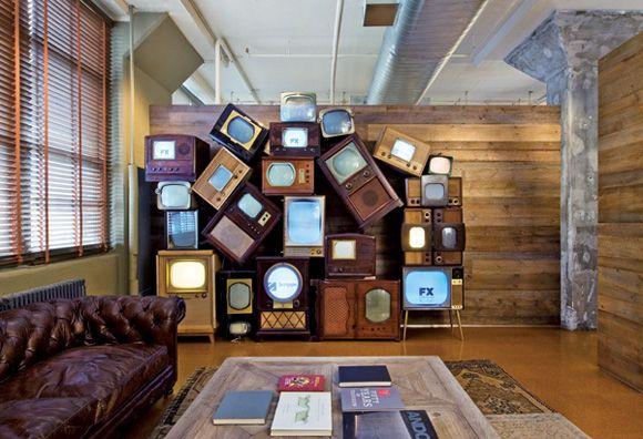 Retro Tv Wall