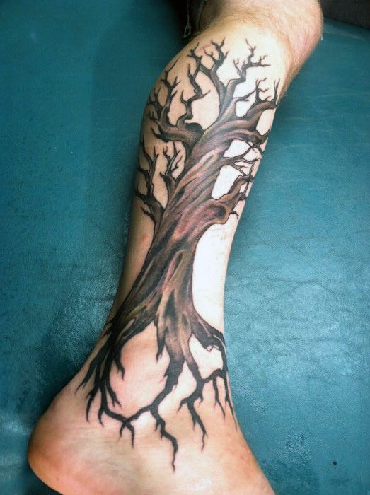 50 Oak Tree Tattoo Designs For Men Leaves And Acorns Tree Tattoo Men Tattoos For Guys Arm Tattoos For Guys