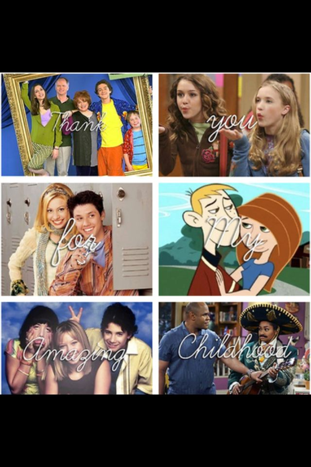 Even Stevens, Hannah Montana, Phil of the Future, Kim Possible, Lizzie McGuire, and That's so Raven!