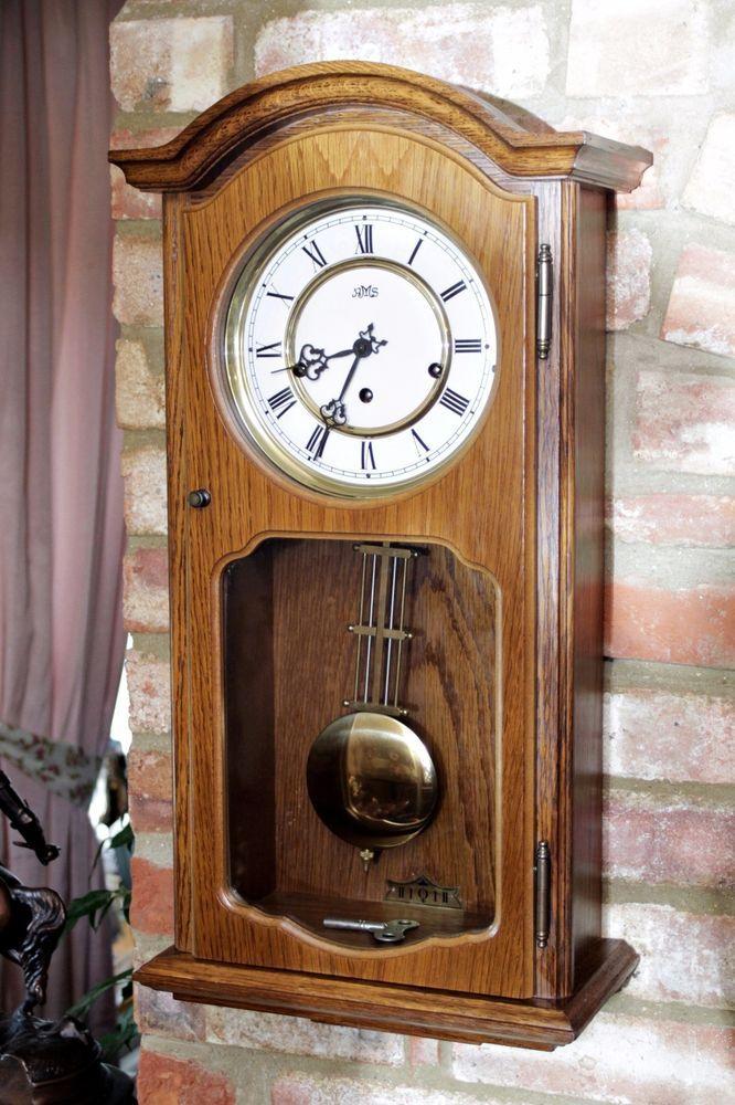 German noble brand ams light oak wall clock with westm whitt german noble brand ams light oak wall clock with westm whitt st aloadofball Choice Image