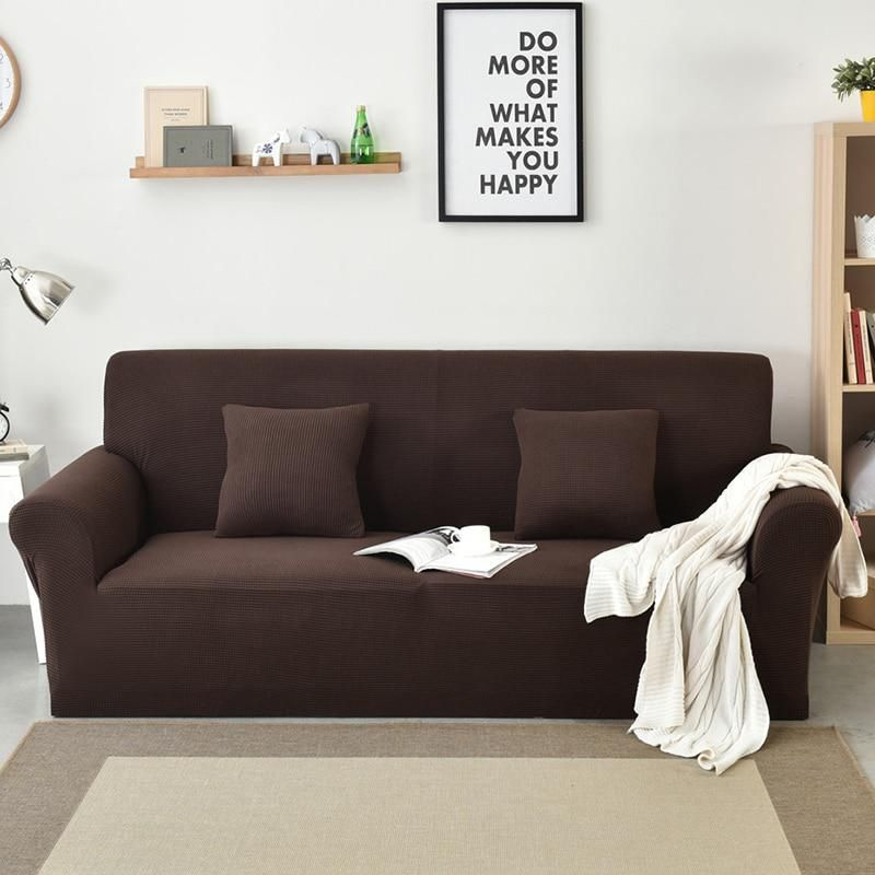 1 2 3 4 Seat Washable Removable Couch Polar Fleece Fabric Sofa