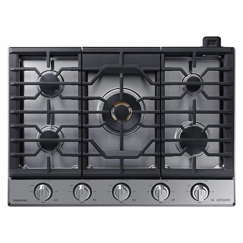 Samsung Chef 30 Inch Gas Cooktop Stainless Steel In 2020 Stainless Steel Cooktop Gas Cooktop Cooktop