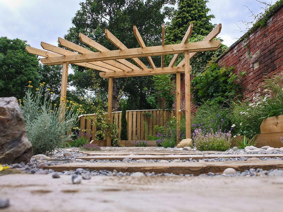 Modern Garden with a rustic twist | Modern garden ...