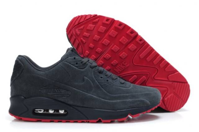 half off 827ef 58e46 Nike Air Max 90 VT Black With Red Sole