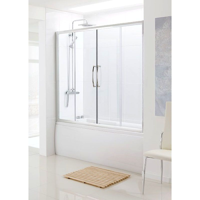 Bathscreen Silver Over Bath Sliding Door | Bathroom City | Bath ...