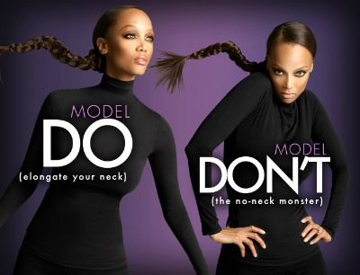 Tyra Banks' modeling moves.