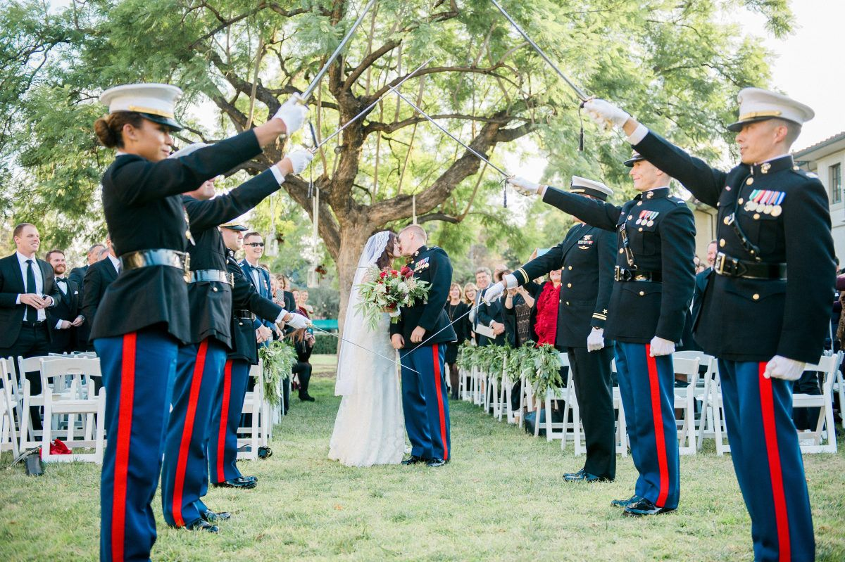 These Marines Winter Wedding Is The Royal Wedding 2 0 Marines Dress Blues Dress Blues Marines Military Wedding Marine [ 799 x 1200 Pixel ]