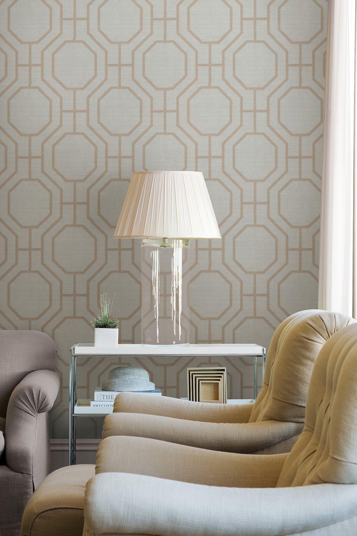 Grey Modern Ironwork Wallpaper Home goods decor, Decor
