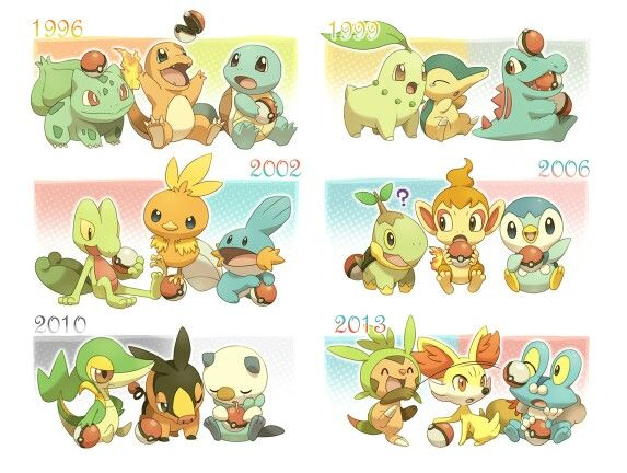 You Can Officially Have 6 Of Your Favourite Starters In Your Party Awesome Pokemon Pokemon Starters Pokemon Pokedex