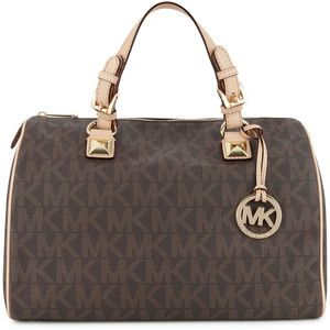 Michael Kors Grayson Monogrammed Bowler Bag