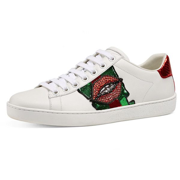 2a46dc09bd9b Gucci New Ace Embroidered Low-Top Sneaker ( 870) ❤ liked on ...