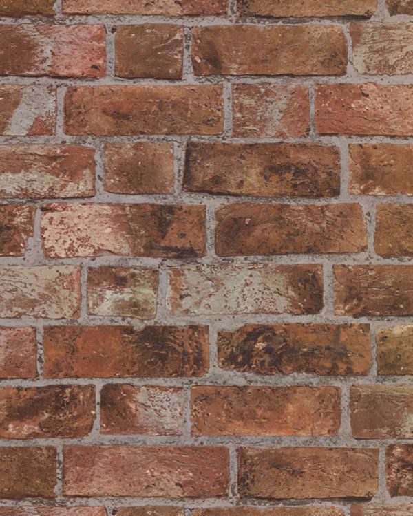 Orange And Red Brick Raised Textured Wallpaper It Looks And Feels