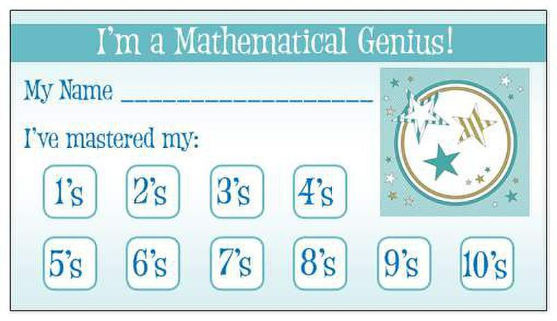 math facts punch card. Really cool ideas in here -- oops card for ...
