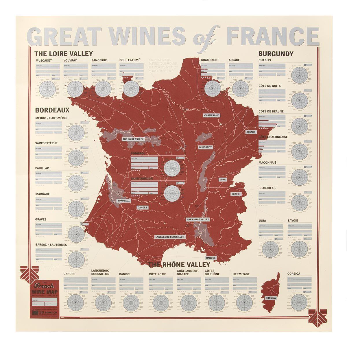 Great Wines Of France Tasting Map Tudo Sobre Vinhos Wine Vinhos Vinhos