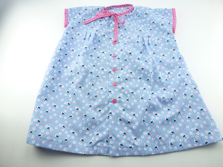 Baby overgooier blauw met roze, setje compleet met broekje maat 1- 2 jaar. Gemaakt aan de hand van een origineel vintage/ retro patroon 1952 by BarbaraEtsyShop on Etsy