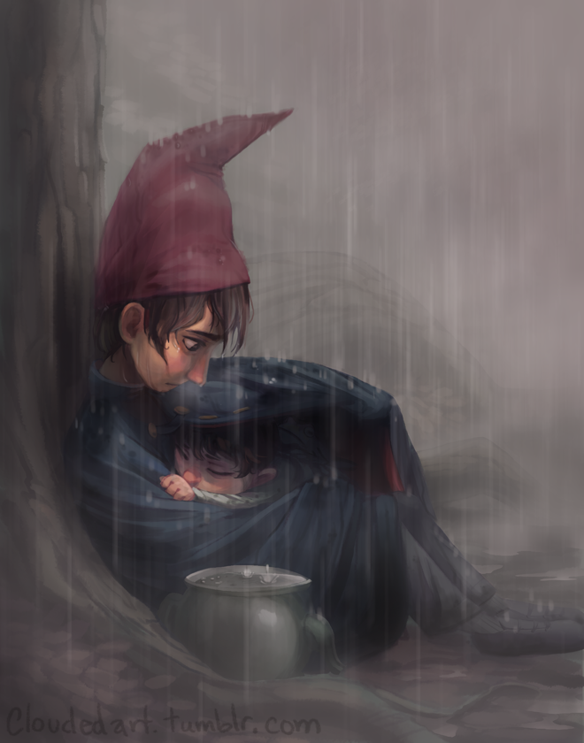 'Over The Garden Wall' Print  (**This item is in preorder! Your order will be filled starting June-July. This print features Wirt and Gregory (and Mr. President/Greg Jr./Dr. Cucumber/the frog!) from Cartoon Network's series Over The Garden Wall.)