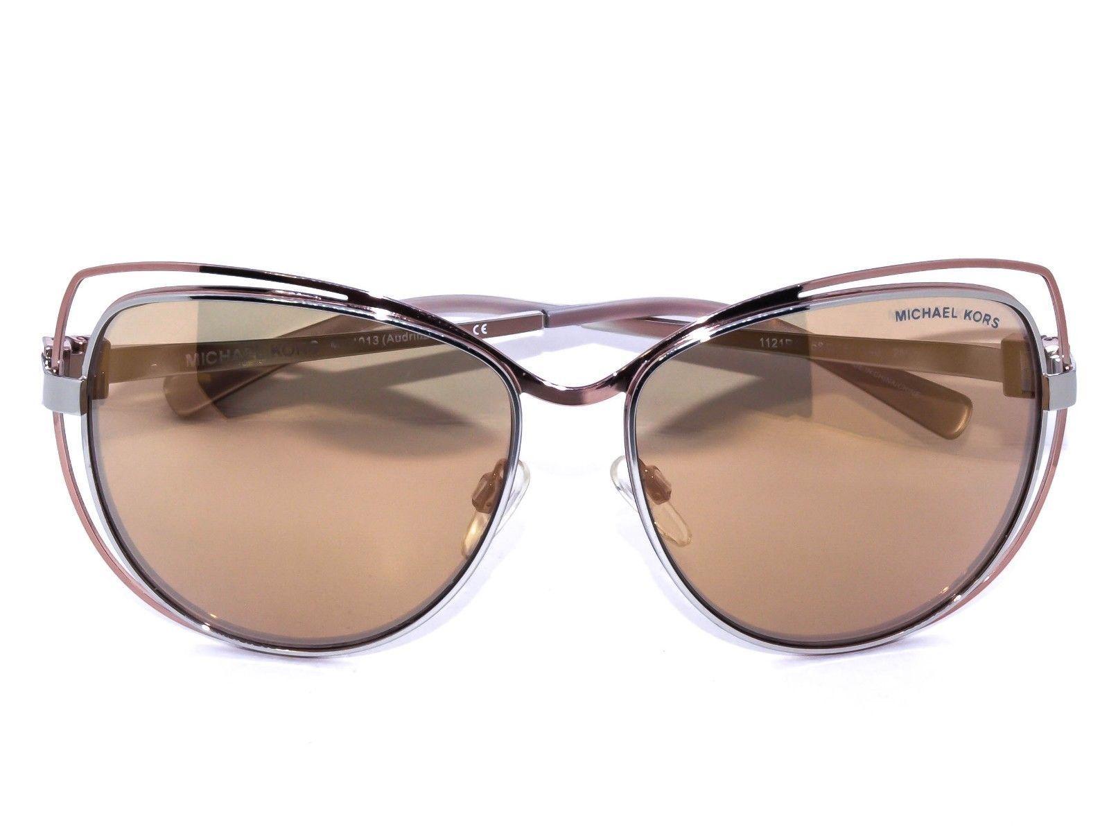 df850eaf1b Michael Kors Women s Cat Eye Sunglasses MK1013 Audrina Mirrored Gold 58  15  140