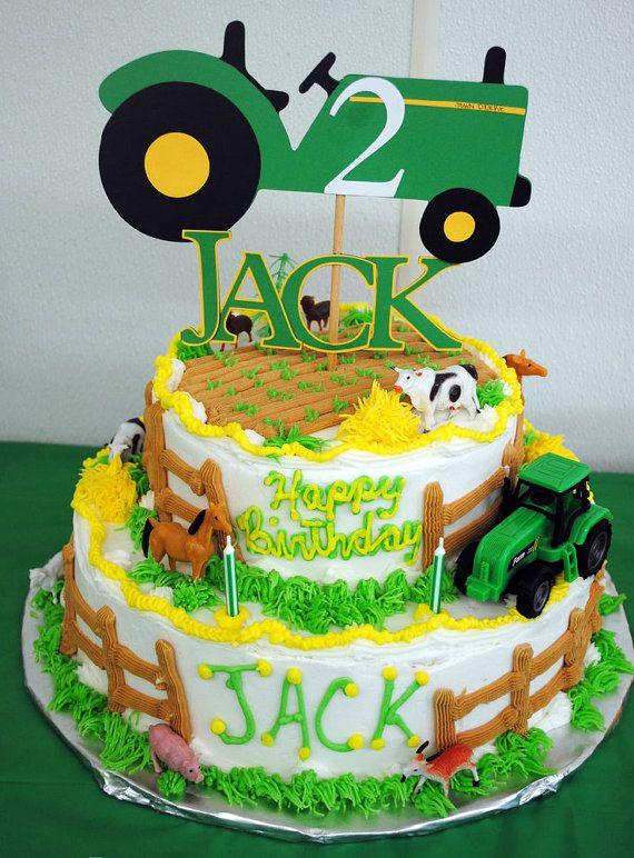 John Deer Tractor Cake Topper