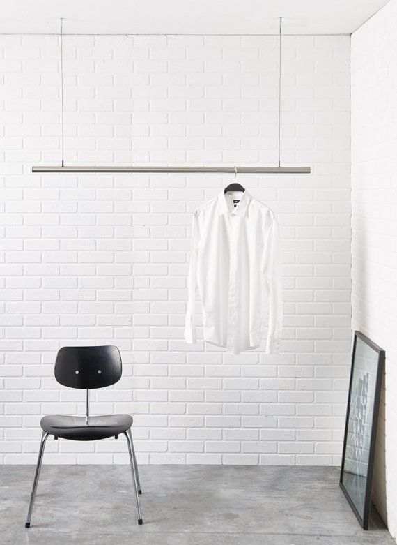 airjust hanging cloth rack ceiling mounted the clothes. Black Bedroom Furniture Sets. Home Design Ideas