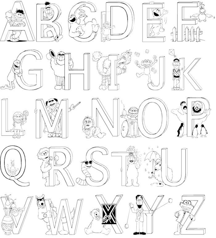 Abc Coloring Pages Alphabet Coloring Worksheets For Toddlers ...