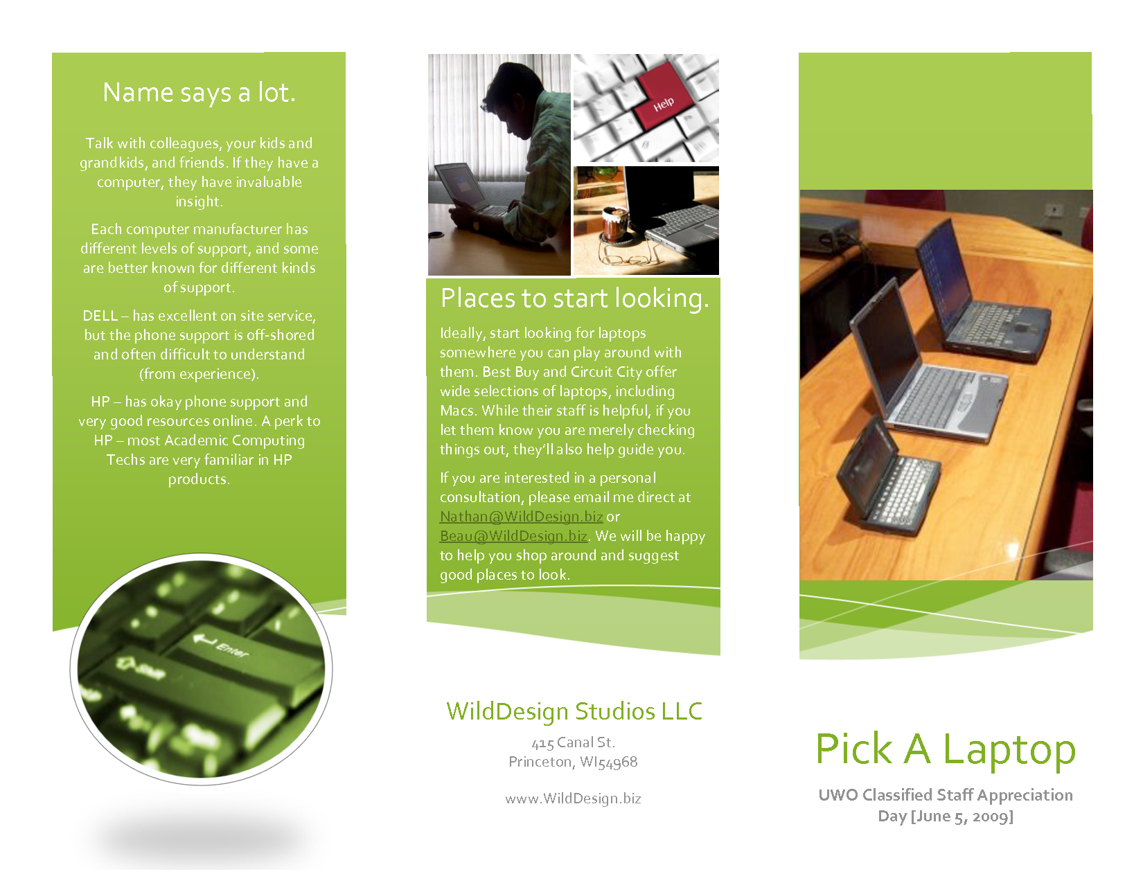 Personal Brochure Examples Ideal Vistalist Co