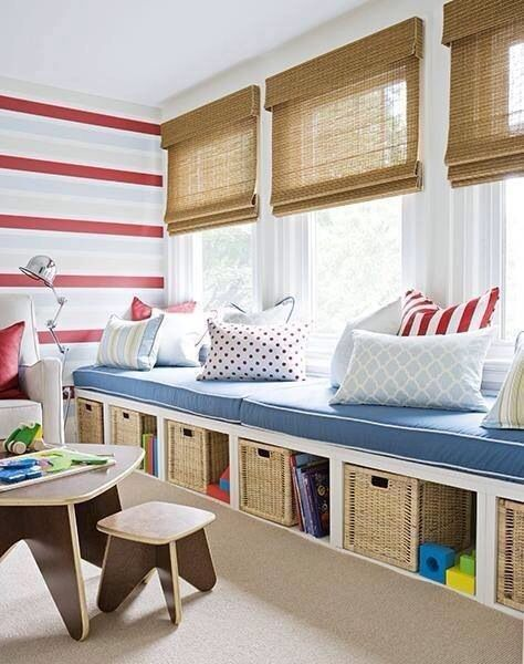 Rumpus Room Designs: Storage Kids Room, Window Seat