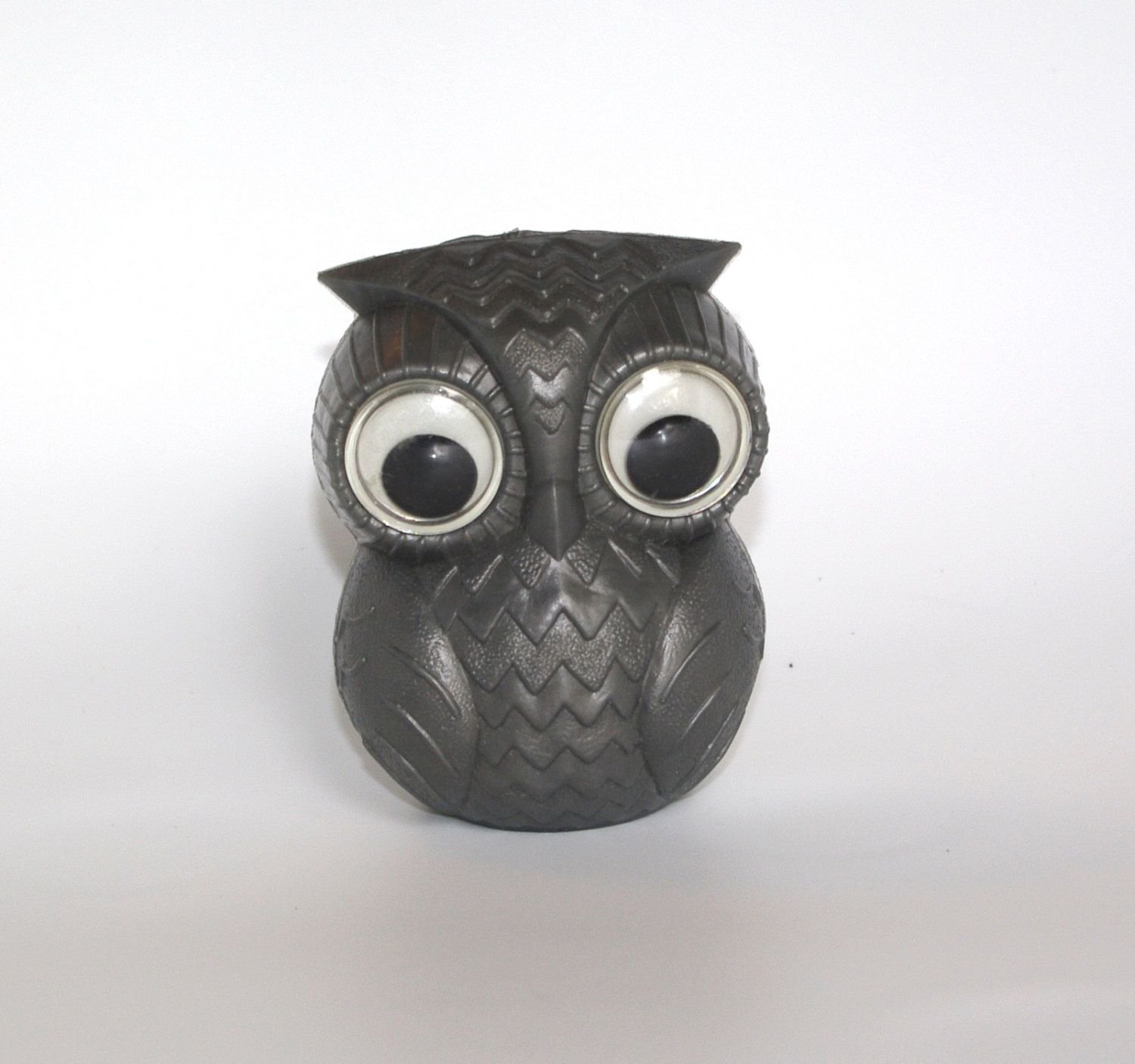 Cute toys images  Cute Soviet Grey Owl Toy  Collectible Plastic Gray owl Bath Toy