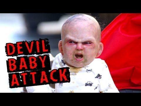 """This is the """"Devil Baby Attack"""" and it's a viral marketing stunt to promote the new horror movie Devil's Due .   People Losing Their Minds Over This Terrifying Baby Prank Is Unbelievably Funny"""