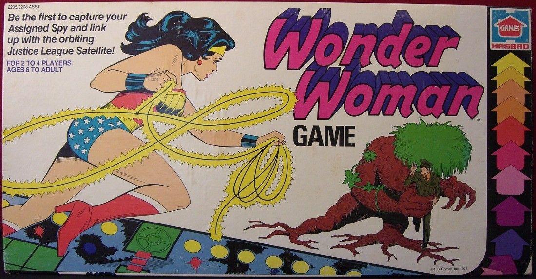 HASBRO 1978 Wonder Woman Game Vintage Games Board