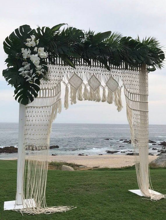 Elegant Wedding Backdrop, Wedding Arches, Macrame Wedding Decor, Macrame Wedding backdrop, Boho wedding decoration, macrame wall hanging is part of Wedding decor Arch - DHL; 34 days to the States, 12 days to Europe