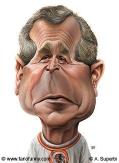 Superbi George W Bush Caricaturas Pinterest Caricature