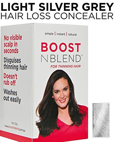BOOSTnBLEND Light Silver Grey Hair Loss Concealer for Women ...
