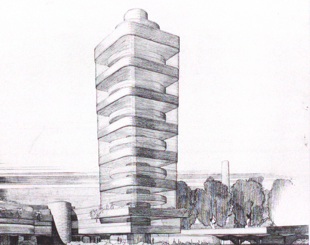 Image result for johnson wax research tower plan
