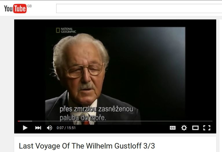 Part 3 of a National Geographic documentary about the Wilhelm Gustloff https://www.youtube.com/watch?v=Y_qdQHKa-Pw